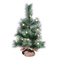 Solight vánoční stromek 45cm, 15LED, 3x AA, IP44 časovač - 1V238