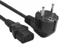 Napájecí kabel pro počítače, 3-pin, 230V, 10A, 1,8m   KAD201