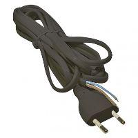 Kabel flexo 2 x 0,75mm, černá, 3m plochá, bal.  S19273