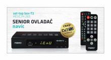 SET TOP BOX MAXXO STB-T2 FullHD s HEVC H.265 DVB-T2,  USB přijímač