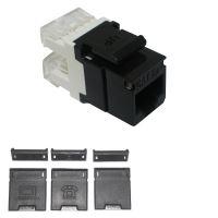 Přístroj zásuvky datové komunikační SOLARIX SXKJ-5E-UTP-BK  CAT5E UTP RJ45 černý