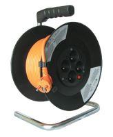 Prodlužovací přívod na bubnu 4zás. 25m oranžový  PB03