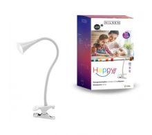 NILSEN LED stolní lampa HAPPY klips 2,5W, bílá  PX027