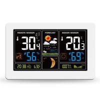 Solight meteostanice, extra velký barevný LCD, teplota, vlhkost, tlak, RCC, USB nabíjení, bílá - TE81W