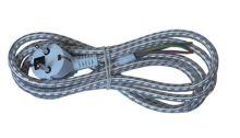 Kabel flexo 3 x 0,75mm2, pletená, 3m, textil světlý  PF41