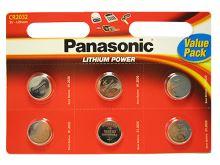 Baterie Panasonic CR2032, blistr 6ks, Lithium
