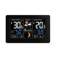 Solight meteostanice, extra velký barevný LCD, teplota, vlhkost, tlak, RCC, USb nabíjení, černá - TE81