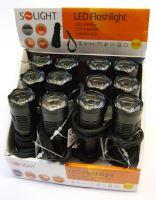 Solight kovová svítilna malá, 1W LED, černá, 1x AA - WL17
