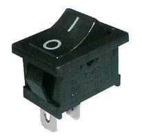 Přepínač kolébkový 2pol./2pin ON-OFF 250V/6A černý 0-I  02620010