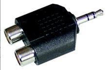 Redukce Audio adaptér, 3,5mm jack konektor stereo - 2 x cinch zdířka  RE29