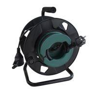 Solight prodlužovací přívod na bubnu, 1 zásuvka, venkovní, 50m gumový kabel, 3x 1,5mm2, IP44 - PB31