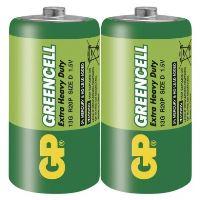 Baterie GP Greencell R20 (D, velké mono)