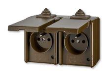 Instalační zásuvka dvojnásobná nástěnná 5518-2069H IP44