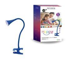 NILSEN LED stolní lampa HAPPY klips 2,5W, modrá  PX029