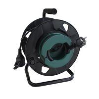 Solight prodlužovací přívod na bubnu, 1 zásuvka, venkovní, 25m gumový kabel, 3x 1,5mm2, IP44 - PB30