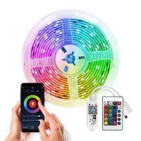 Solight Wifi Smart LED světelný pás, RGB, 5m, sada s adaptérem a dálkovým ovladačem - WM57