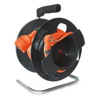Prodlužovací přívod na bubnu - spojka, 1zás. 25m oranžový  PB11O