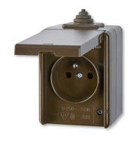 Instalační zásuvka nástěnná 5518-2929H IP44
