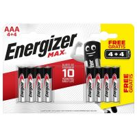 Baterie Energizer MAX AAA/R03, Blistr(4+4)