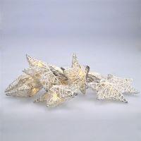 Solight LED řetěz vánoční hvězdy bílé proplétané, 10LED, 1m, 2x AA, IP20  - 1V203