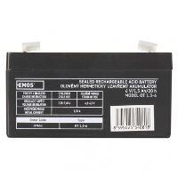 Olověný bezúdržbový akumulátor 6V / 1,3Ah  B9651 (97x24x51mm)