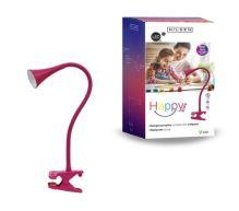 NILSEN LED stolní lampa HAPPY klips 2,5W, růžová  PX030