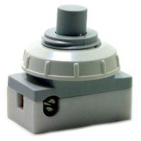 Spínač vestavný 2A 250V šroubový šedý matice bílá 3274-01824  EAS0521