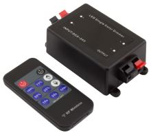 Stmívač pro LED pásky 12/24V, 8A, RF DO, ind. kód, časovač VYP